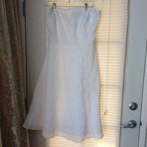 J.Crew White Cotton Dress Sz 14 Strapless